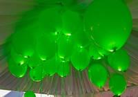 Шар со светодиодами зеленый 30 см диаметр