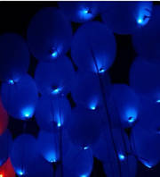 Шар со светодиодами синий 30 см диаметр