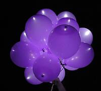 Шар со светодиодами фиолетовый 30 см диаметр