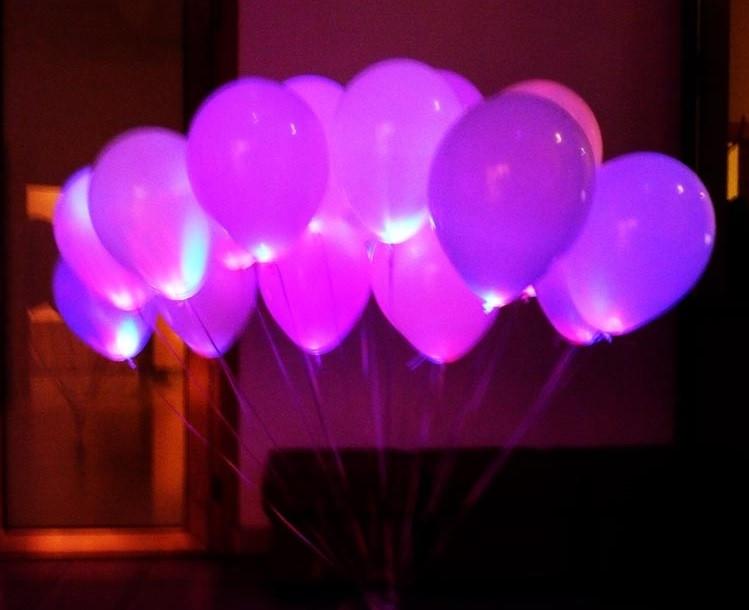 Куля зі світлодіодами рожевий 30 см діаметр