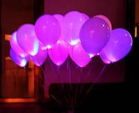 Шар со светодиодами розовый 30 см диаметр