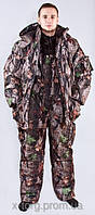 """Зимний Костюм для охоты и рыбалки  камуфляжный """"Тёмный лес"""" - ткань не накапливает влагу, морозостойкая"""