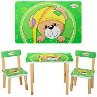 Деревянный комплект стол и 2 стула 501-14