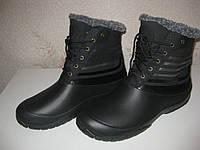 Теплые, не промокаемые ботинки из EVA пены на осень зиму и весну р.43,44 теплющие взрослым и детям