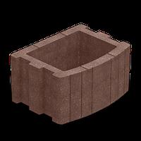 Цветочница бетонная квадратная 500х400 мм, коричневая