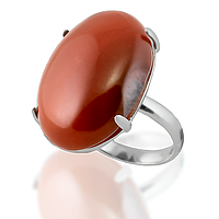 Сердолик, серебро 925, кольцо, 099КС