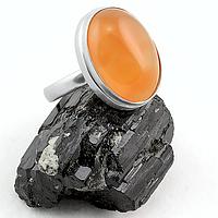 Сердолик, серебро 925, кольцо, 144КС