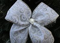 Новогодний декор елочное украшение Банты новогодние большие, фото 1