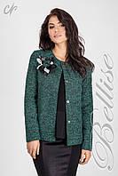 Нарядный женский пиджак из качественного материала 44