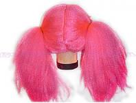 Парик детский розовый с двумя хвостиками