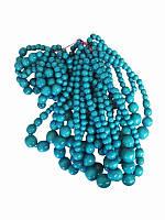 Бусы с браслетом голубые (Украинская бижутерия)