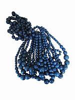 Бусы с браслетом синие (Украинская бижутерия)