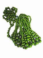 Бусы с браслетом зеленые (Украинская бижутерия)