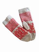 Перчатки-прихватки взрослые (красные) (Шерстяные перчатки)