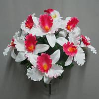 Орхидея натуральная (9 голов) букет искусственный
