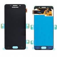 Модуль (дисплей + сенсор) Samsung A3 A310F black original (2016)