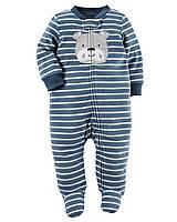 Флисовый человечек для мальчика. 3, 6 месяцев
