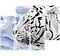 "Модульная картина ""Белый тигр"""