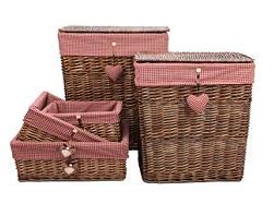 Плетеная бельевая корзина Сердечко функциональный декор для дома и сада
