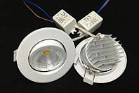 Светодиодный потолочный круглый светильник, с регулируемым углом освещения