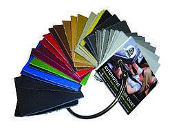 Раскладка цветов для смешивания красок для автомобильной кожи.