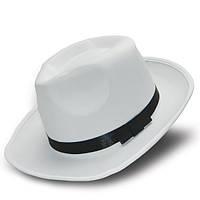 Шляпа гангстерская (белая)