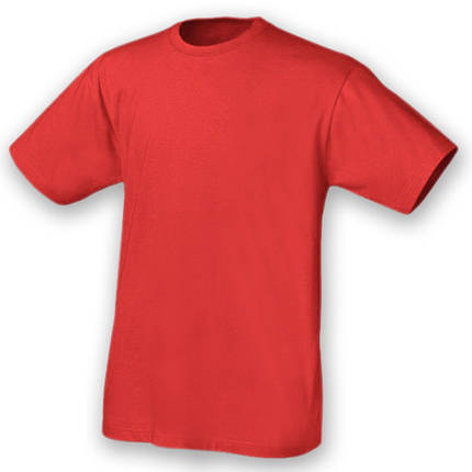 Футболка красная хлопковая, фото 2