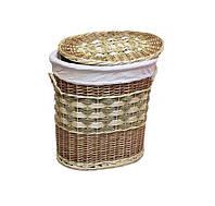 Корзина плетеная декор для дачного дома или квартиры с ручками купить в Харькове оптом