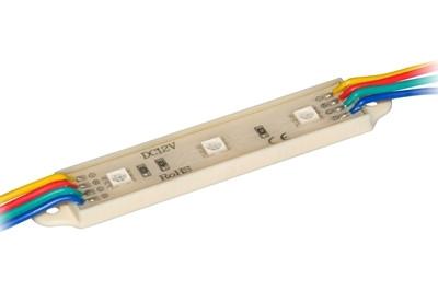 Светодиодный модуль SMD 5050 RGB IP65 3 светодиода  Код.57534