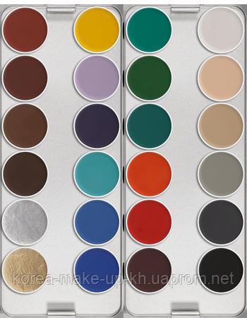 "Грим ""Aquacolor"" (аквагрим) палитра 24 цвета"
