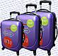 Комплект пластиковых чемоданов 3-ка.на четырёх колёсах фирмы GRAVITT, фото 3