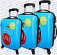 Комплект пластиковых чемоданов 3-ка.на четырёх колёсах фирмы GRAVITT, фото 4