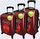 Комплект пластикових валіз 3-ка.на чотирьох колесах фірми GRAVITT, фото 6