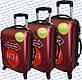 Комплект пластиковых чемоданов 3-ка.на четырёх колёсах фирмы GRAVITT, фото 6