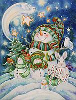 """Схема для вышивания бисером на подрамнике """"Новогодняя сказка"""""""