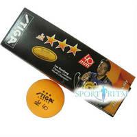 Мячики для пинг-понга Stiga Liu Guoliang 3* оранжевые 3 шт (416303)