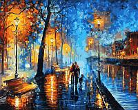 Картины по номерам 40×50 см. Вечерняя прогулка Художник Леонид Афремов, фото 1