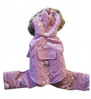 Одежда для собак, MonkeyDaze ВИНИЛ розовый комбинезон с капюшоном, розовый | XXS