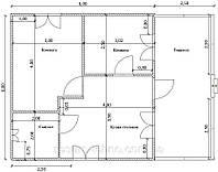 Планировка частного дома Вариант № 1