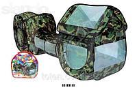 Игровая палатка с тоннелем военная Камуфляж А999-144 (А999-146)