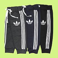 Спортивные штаны адидас двухнитка 92см синий