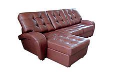 Угловой кожаный диван с оттоманкой Винс. (225*185), фото 3