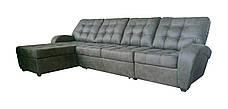 Угловой кожаный диван с оттоманкой Винс. (225*185), фото 2