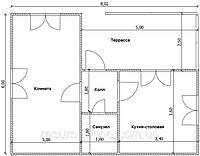 Дом 6м х 8м с внутренней терассой