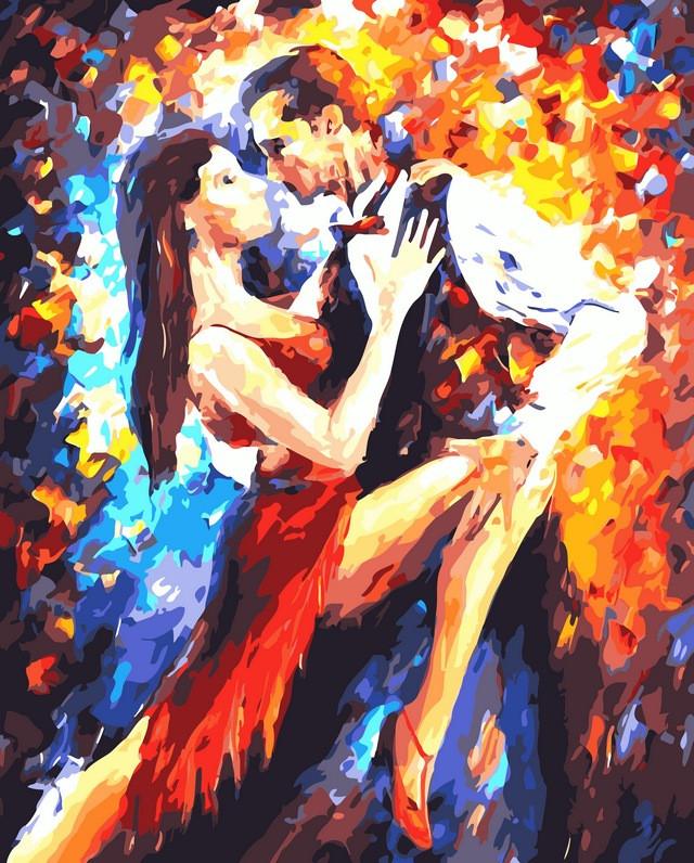 Картины по номерам 40×50 см. Танго в Париже Художник Афремов Леонид (VP-083)