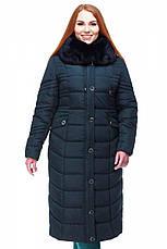 Длинное зимнее пальто с мехом мутона Дайкири, фото 3
