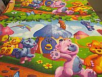 """Ткань для пошива детского постельного белья бязь премиум 1,5 м Радужные мишки / """"Чарівна Ніч"""", фото 1"""