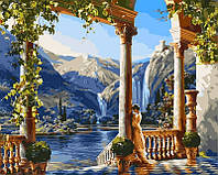 Наборы для творчества 40 × 50 см. Девушка у водопада худ. Сатаров, Михаил , фото 1