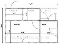 Проекты деревянных домов Вариант №6
