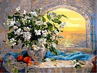 Картины по номерам 40×50 см. Букет жасмина , фото 1
